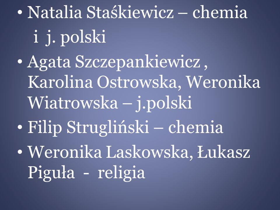 Natalia Staśkiewicz – chemia i j.