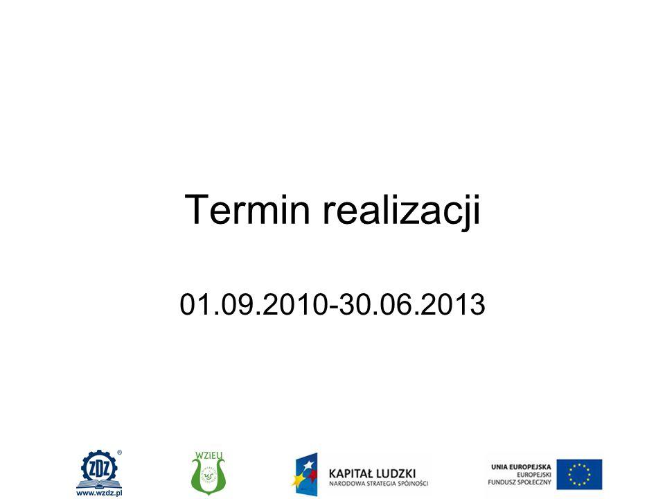 Termin realizacji 01.09.2010-30.06.2013