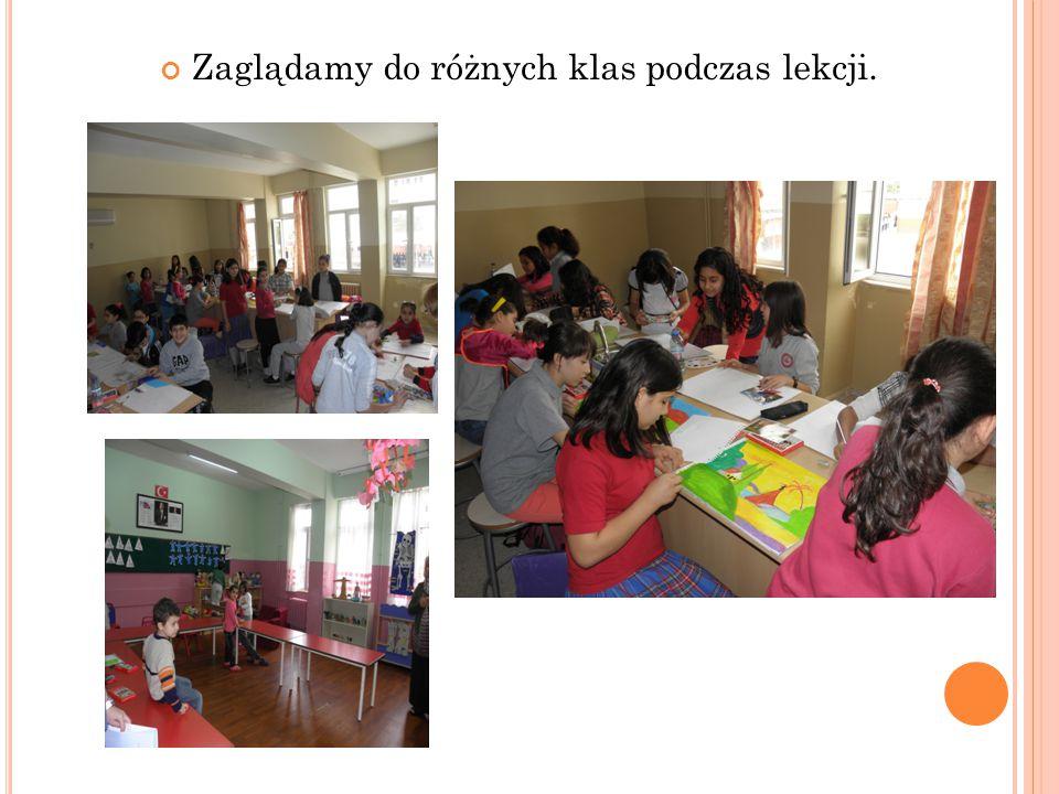 Zaglądamy do różnych klas podczas lekcji.