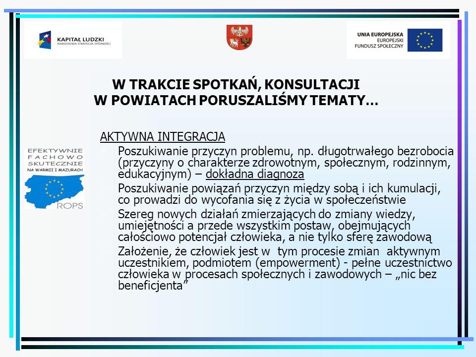 Działania doradców związane ze współpracą PUP i OPS/PCPR w 2009 roku  Przeprowadzenie badań ankietowych nt.