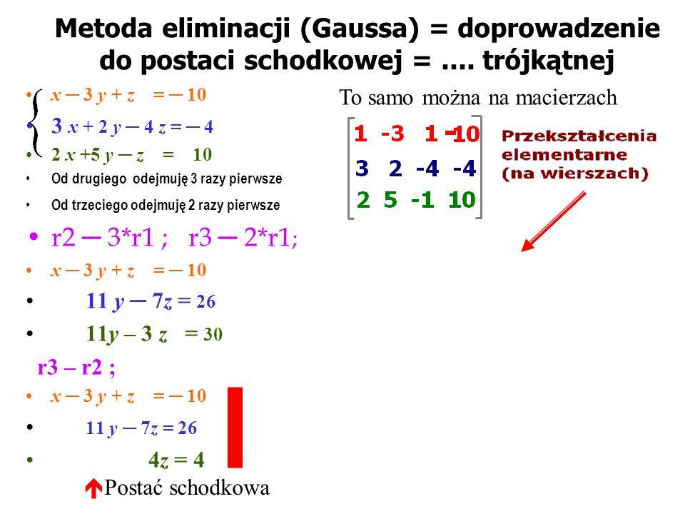 Układy równań liniowych 2x + 3y = 8 x – 2y = 1