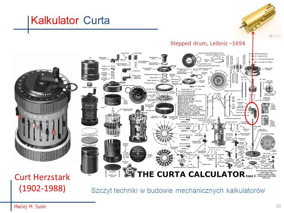 Stepped drum, Leibniz –1694 Kalkulator Curta 10 Maciej M.