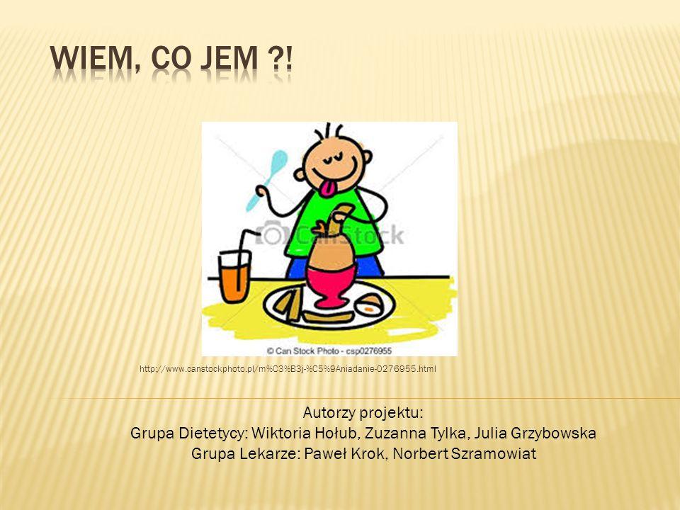 http://www.canstockphoto.pl/m%C3%B3j-%C5%9Aniadanie-0276955.html Autorzy projektu: Grupa Dietetycy: Wiktoria Hołub, Zuzanna Tylka, Julia Grzybowska Gr