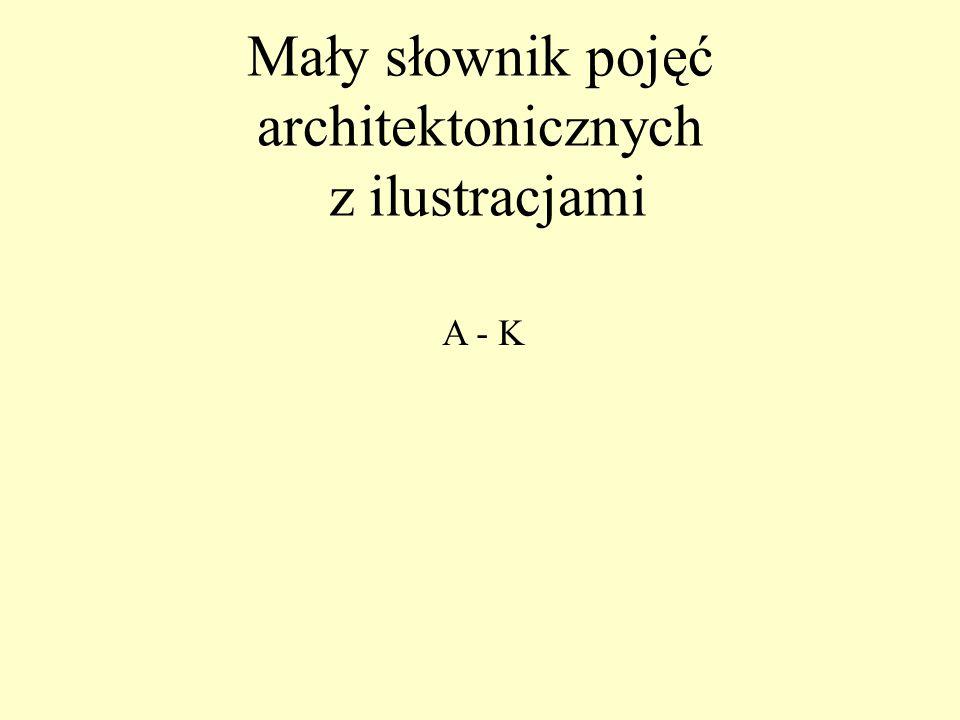 Mały słownik pojęć architektonicznych z ilustracjami A - K
