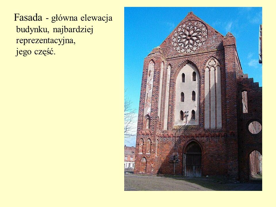 Fasada - główna elewacja budynku, najbardziej reprezentacyjna, jego część.