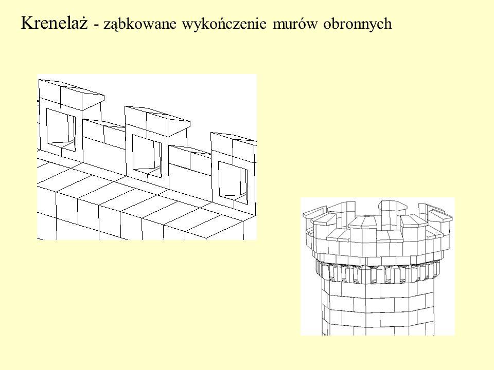 Krenelaż - ząbkowane wykończenie murów obronnych