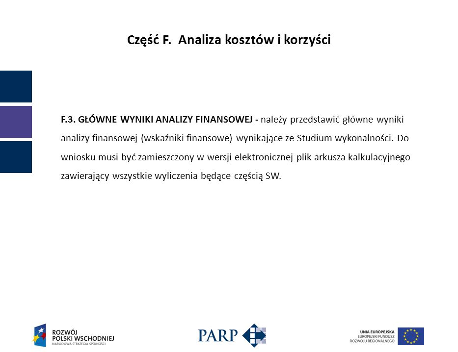 Część F. Analiza kosztów i korzyści F.3.