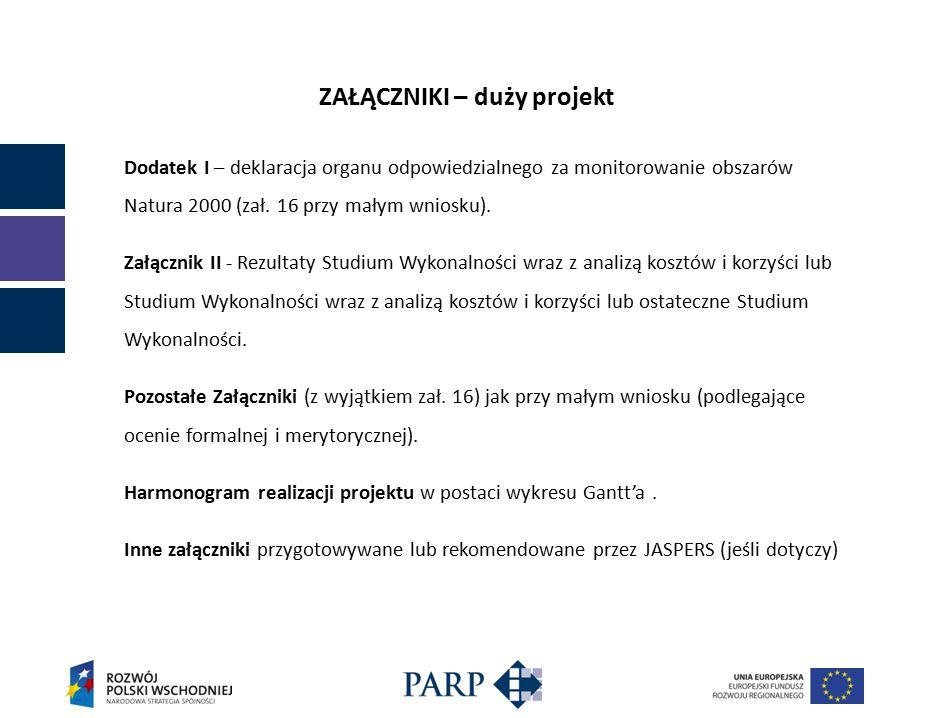 ZAŁĄCZNIKI – duży projekt Dodatek I – deklaracja organu odpowiedzialnego za monitorowanie obszarów Natura 2000 (zał.