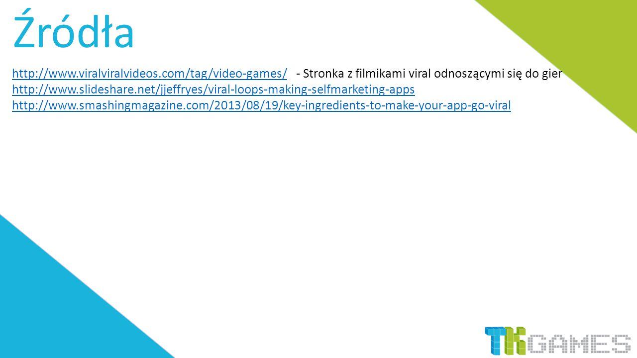 Źródła http://www.viralviralvideos.com/tag/video-games/http://www.viralviralvideos.com/tag/video-games/ - Stronka z filmikami viral odnoszącymi się do