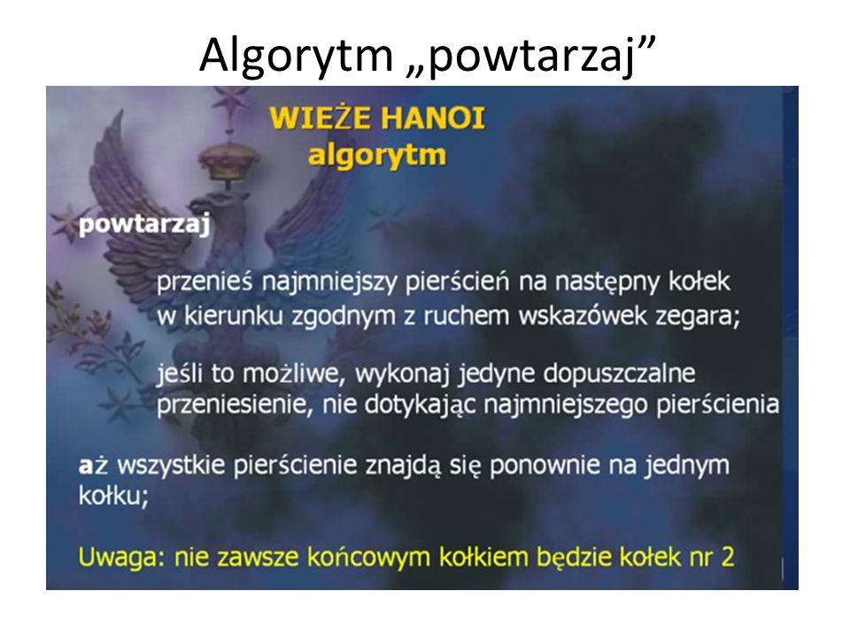 """Algorytm """"powtarzaj"""""""