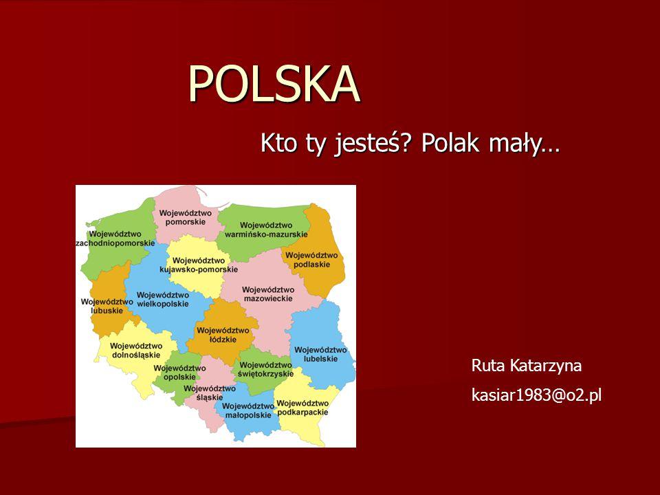 """Symbole Polski """"Powiewa flaga, gdy wiatr się zerwie, A na tej fladze, biel jest i czerwień, Czerwień – to miłość, biel serce czyste, piękne są nasze barwy ojczyste. (Czesław Janczarski)"""