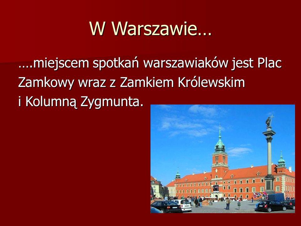 W Warszawie… … miejscem spacerów warszawiaków jest Park Łazienkowski z Pałacem na Wyspie i pomnikiem Chopina oraz park wokół Pałacu w Wilanowie.