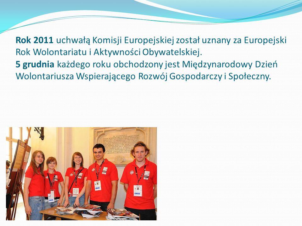 Rok 2011 uchwałą Komisji Europejskiej został uznany za Europejski Rok Wolontariatu i Aktywności Obywatelskiej.