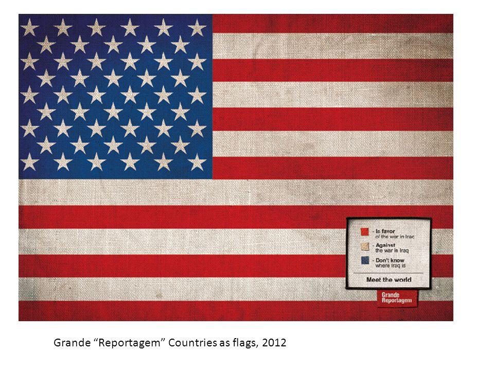 """Grande """"Reportagem"""" Countries as flags, 2012"""