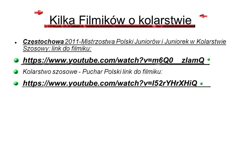 Kilka Filmików o kolarstwie Częstochowa 2011-Mistrzostwa Polski Juniorów i Juniorek w Kolarstwie Szosowy: link do filmiku: https://www.youtube.com/wat