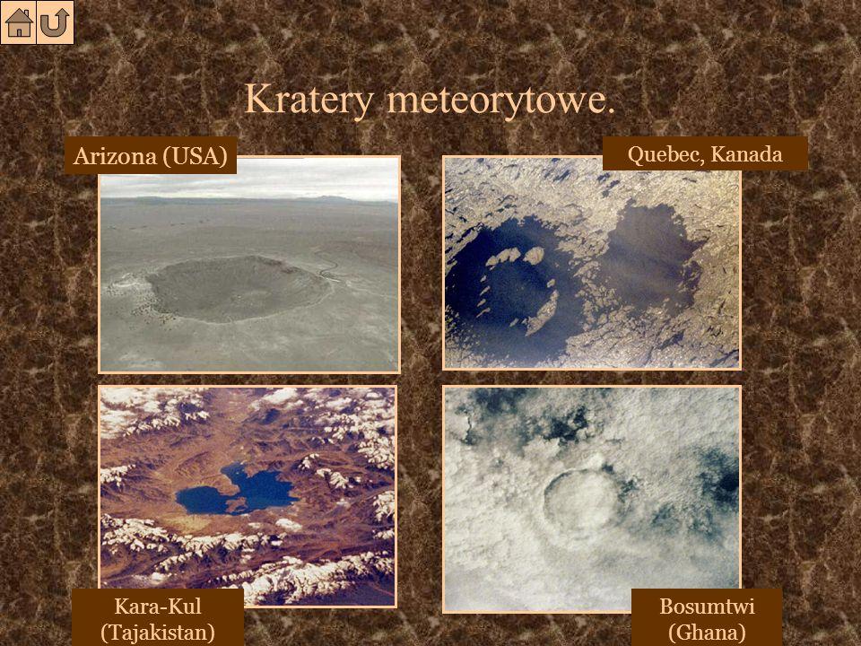 Kratery meteorytowe.