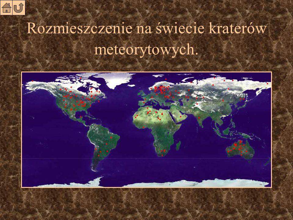 Kratery meteorytowe. Arizona (USA) Quebec, Kanada Kara-Kul (Tajakistan) Bosumtwi (Ghana)