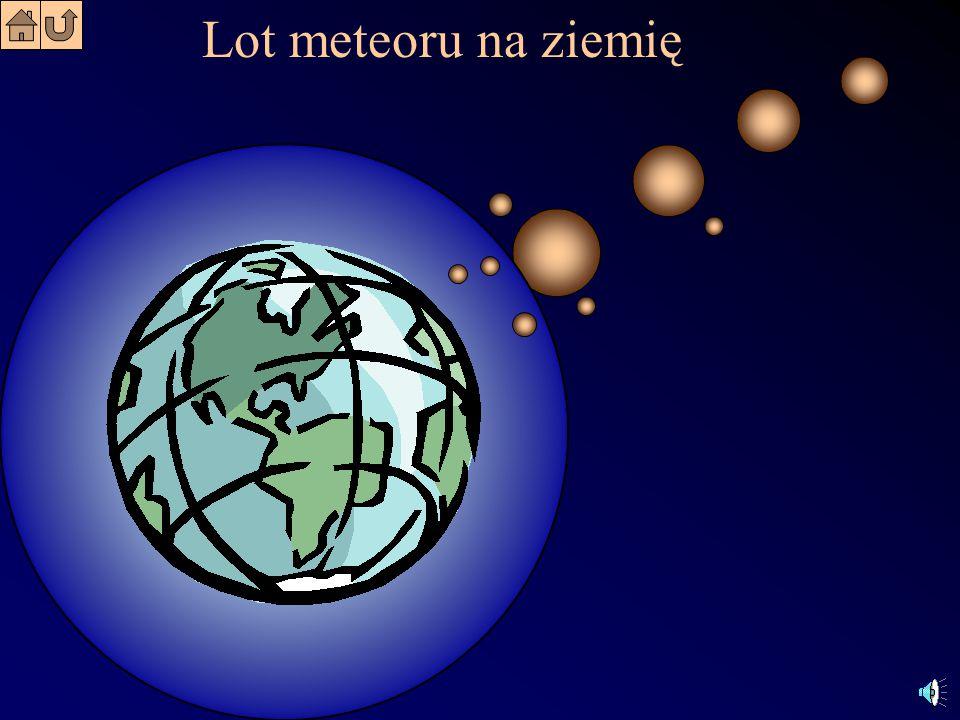 Lot meteoru na ziemię