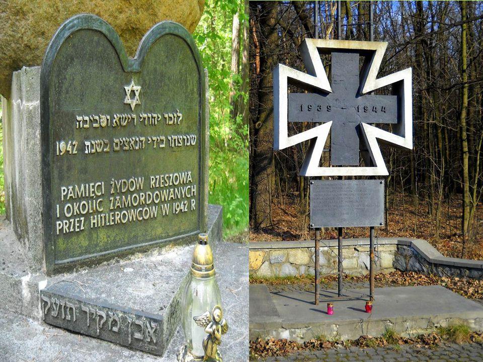Mogiły poległych Polaków i Żydów  W rezerwacie znajdują się także miejsca pamięci narodowej.