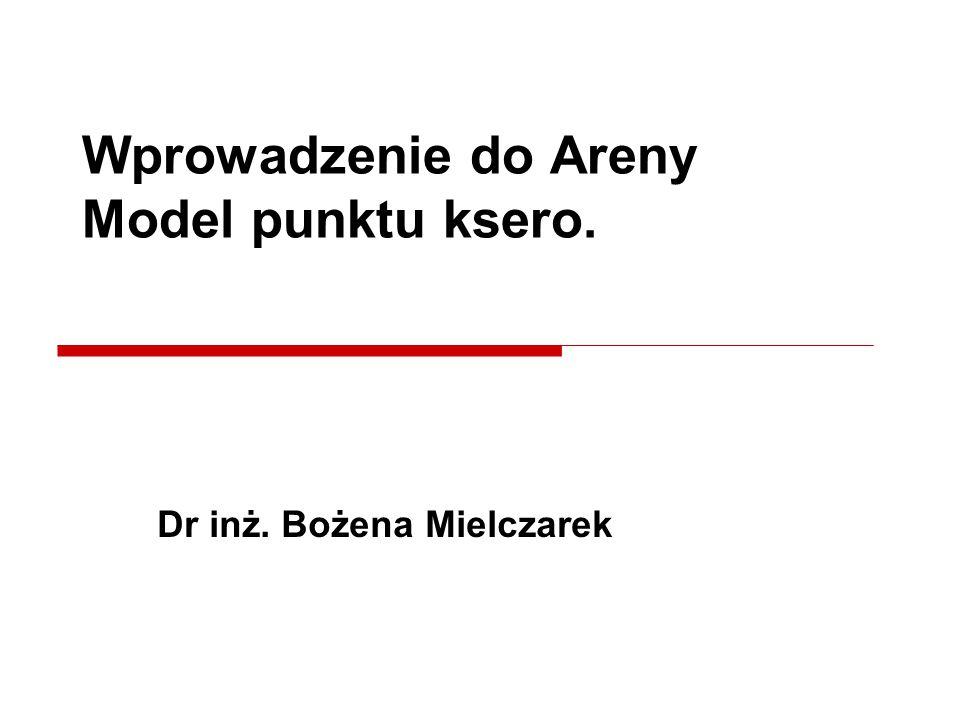 Dr inż. Bożena Mielczarek Wprowadzenie do Areny Model punktu ksero.