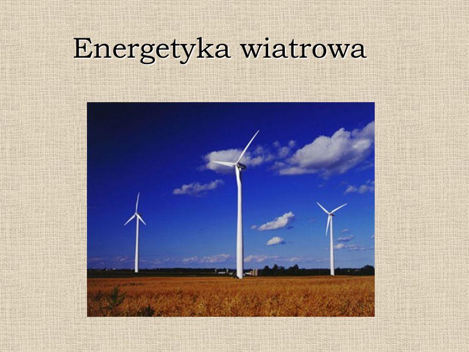 Energia wiatru Przede wszystkim energia wiatru należy do odnawialnych źródeł energii (obok energii geotermalnej, energii wodnej i słonecznej, itd.).