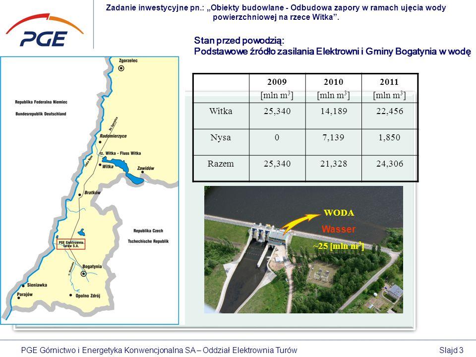 """Zadanie inwestycyjne pn.: """"Obiekty budowlane - Odbudowa zapory w ramach ujęcia wody powierzchniowej na rzece Witka ."""