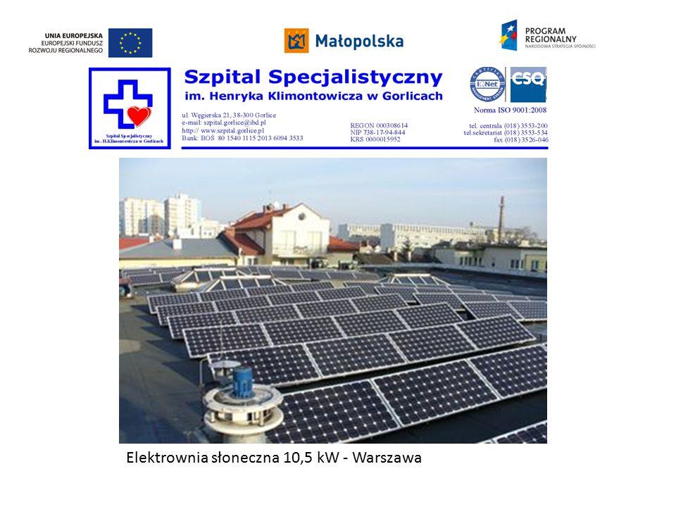 Elektrownia słoneczna 10,5 kW - Warszawa