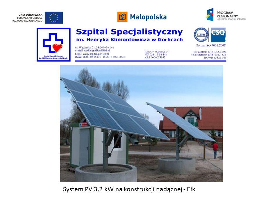 System PV 3,2 kW na konstrukcji nadążnej - Ełk