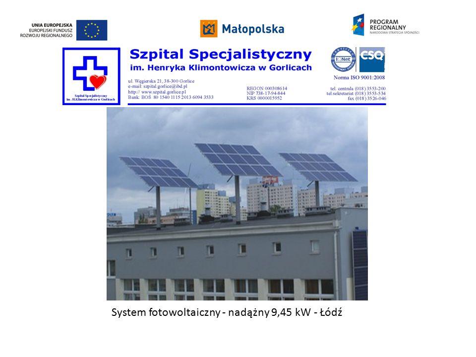 System fotowoltaiczny - nadążny 9,45 kW - Łódź