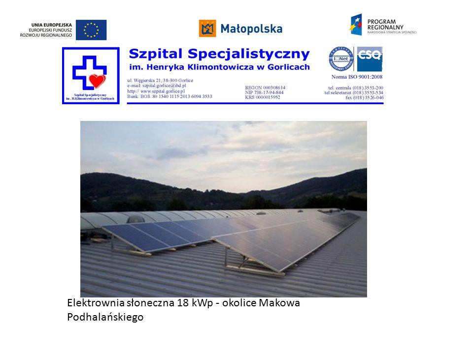 Elektrownia słoneczna 18 kWp - okolice Makowa Podhalańskiego
