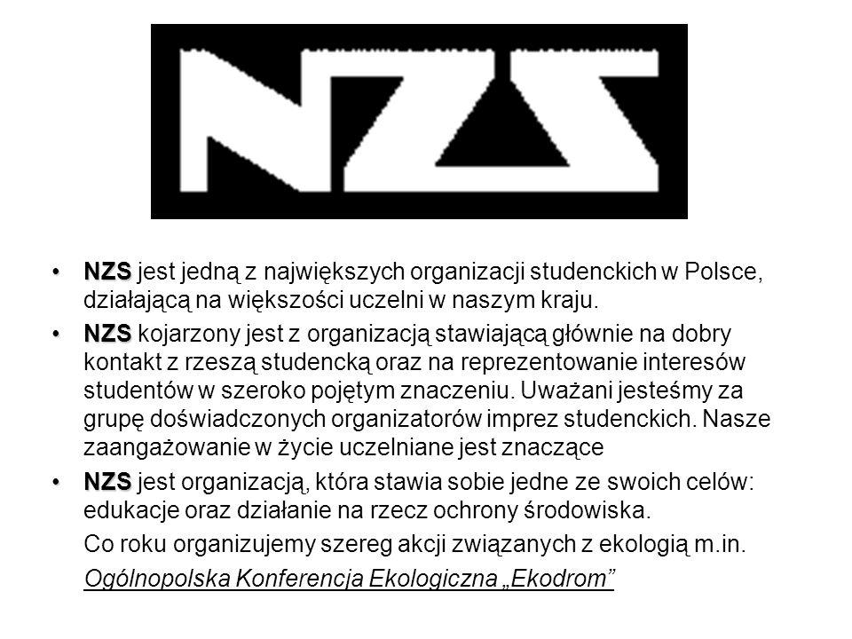 NZSNZS jest jedną z największych organizacji studenckich w Polsce, działającą na większości uczelni w naszym kraju.