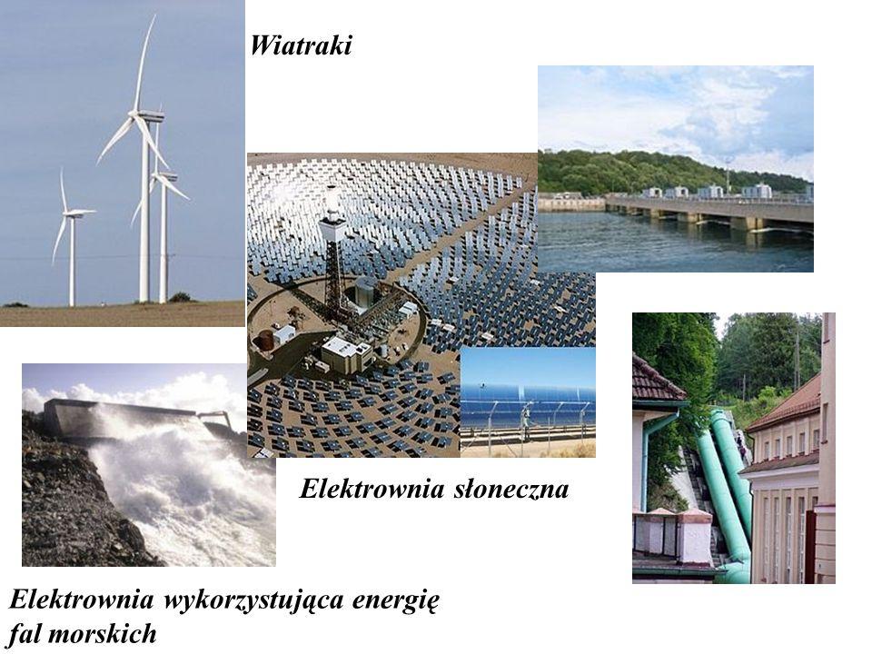 Wiatraki Elektrownia wykorzystująca energię fal morskich Elektrownia słoneczna
