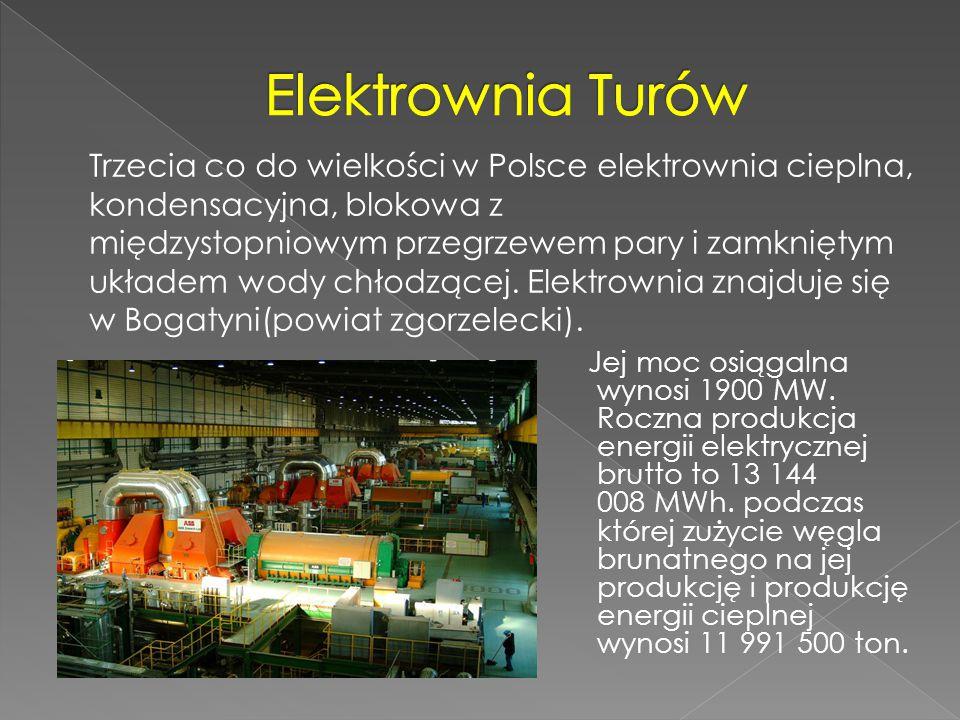 Jej moc osiągalna wynosi 1900 MW. Roczna produkcja energii elektrycznej brutto to 13 144 008 MWh. podczas której zużycie węgla brunatnego na jej produ