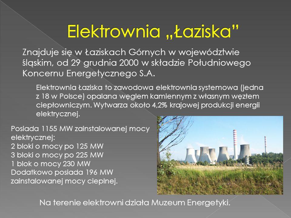 Znajduje się w Łaziskach Górnych w województwie śląskim, od 29 grudnia 2000 w składzie Południowego Koncernu Energetycznego S.A. Posiada 1155 MW zains