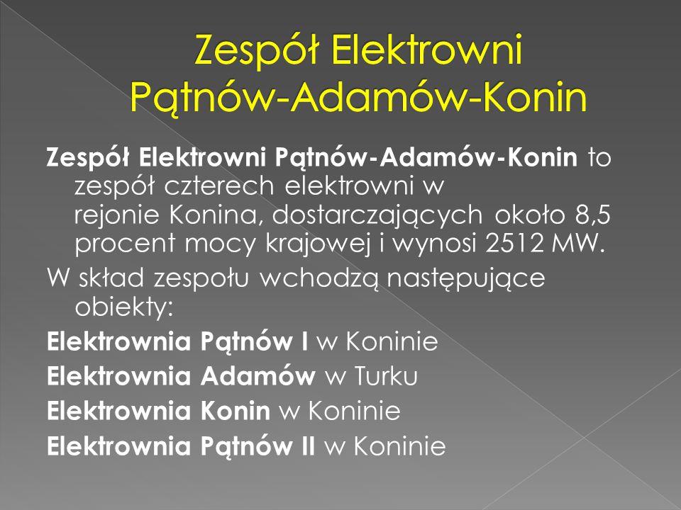 Zespół Elektrowni Pątnów-Adamów-Konin to zespół czterech elektrowni w rejonie Konina, dostarczających około 8,5 procent mocy krajowej i wynosi 2512 MW
