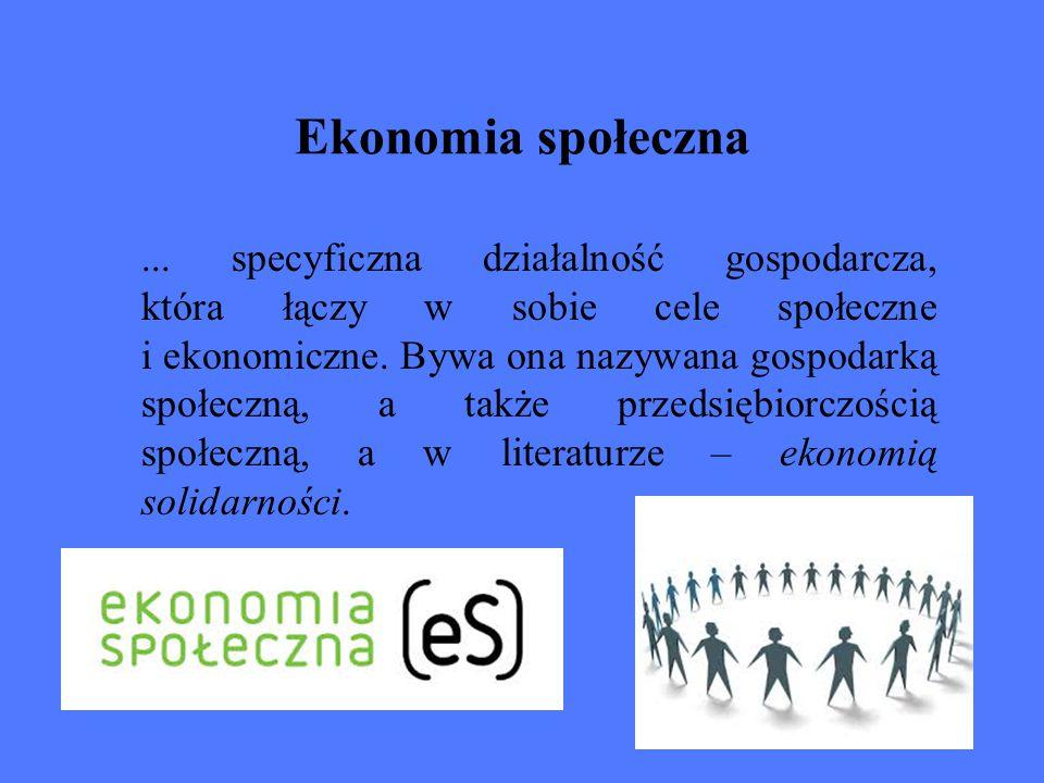 Przedsiębiorstwa społeczne to takie podmioty gospodarcze, które poza dostarczaniem dobrej jakości produktów i usług oraz generowaniem zysku są nastawione przede wszystkim na dokonanie pozytywnej zmiany społecznej.