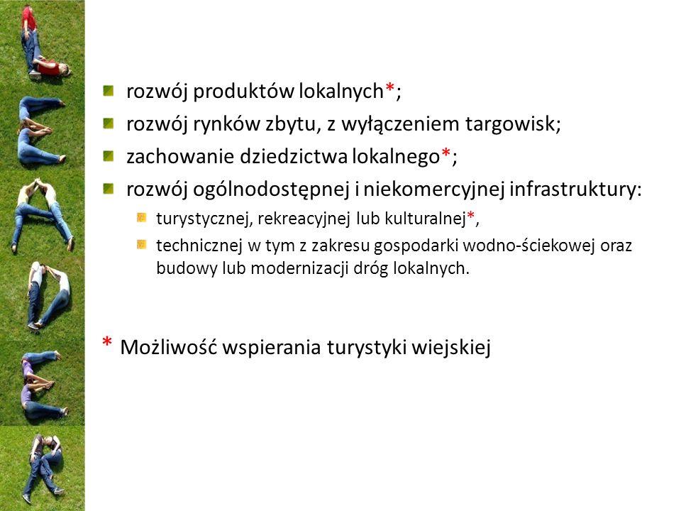 """Dotychczasowy wkład podejścia LEADER w rozwój turystyki wiejskiej w ramach PROW 2007-2013 Działanie 413 – Wdrażanie LSR - Operacje odpowiadające warunkom przyznania pomocy w ramach działań osi 3: """"Różnicowanie w kierunku działalności nierolniczej """"Odnowa i rozwój wsi """"Tworzenie i rozwój mikroprzedsiębiorstw - Małe projekty"""