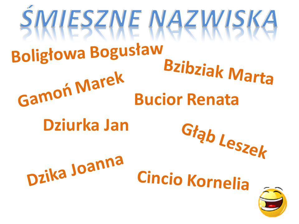 Boligłowa Bogusław Bzibziak Marta Bucior Renata Gamoń Marek Głąb Leszek Dziurka Jan Dzika Joanna Cincio Kornelia