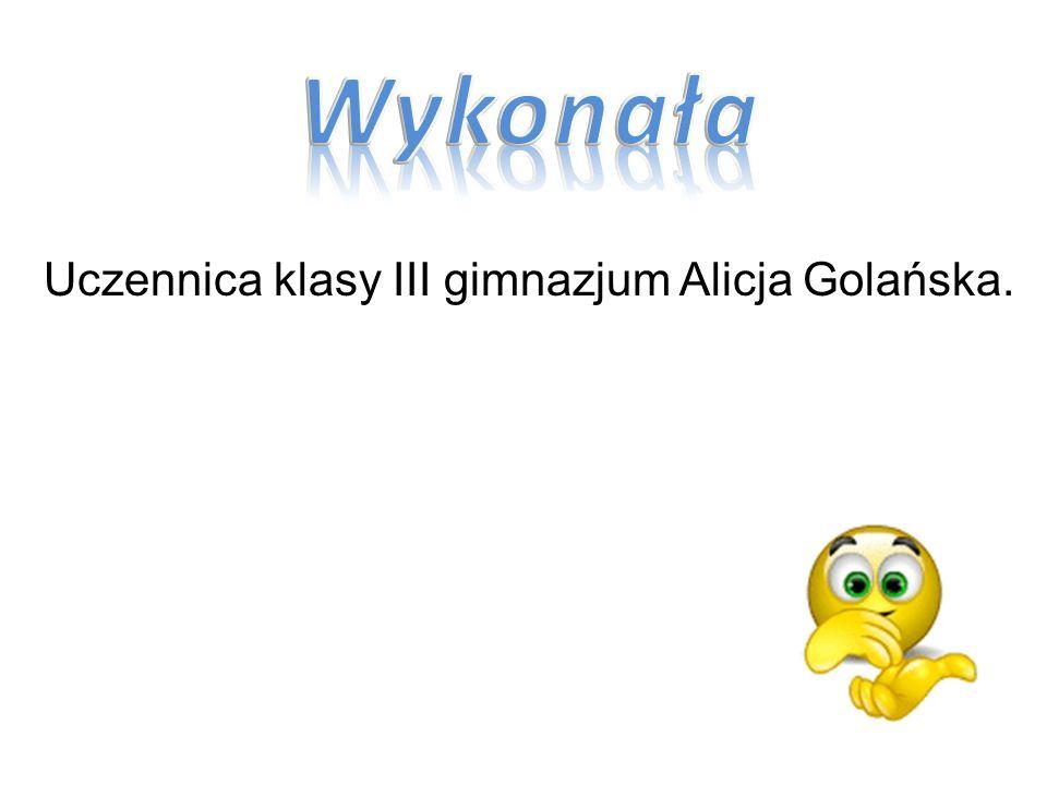 Uczennica klasy III gimnazjum Alicja Golańska.