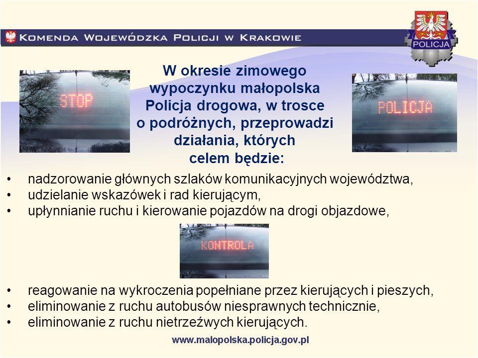 Utrudnienia w ruchu na małopolskich drogach