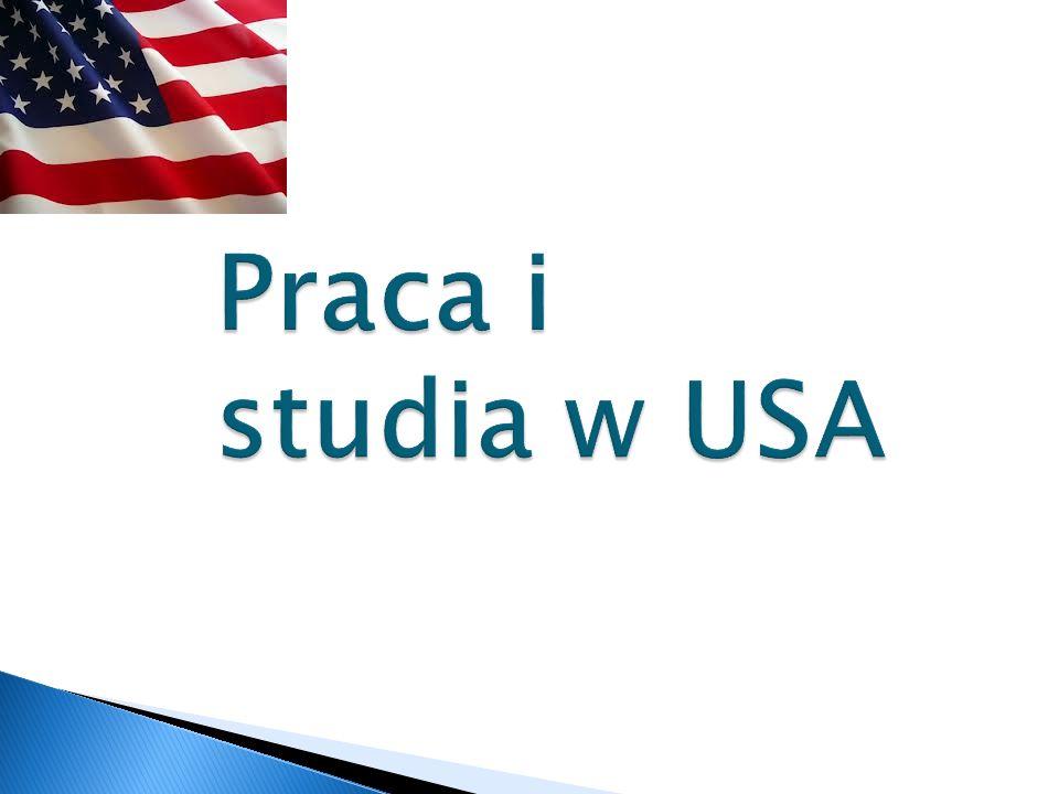 Praca i studia w USA
