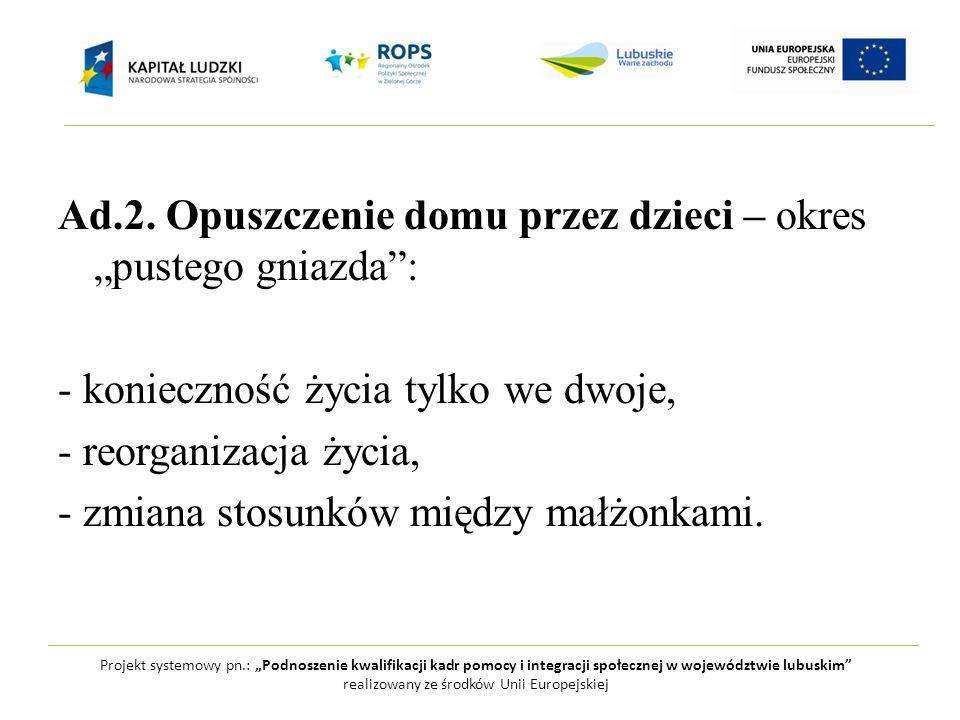 """Projekt systemowy pn.: """"Podnoszenie kwalifikacji kadr pomocy i integracji społecznej w województwie lubuskim"""" realizowany ze środków Unii Europejskiej"""