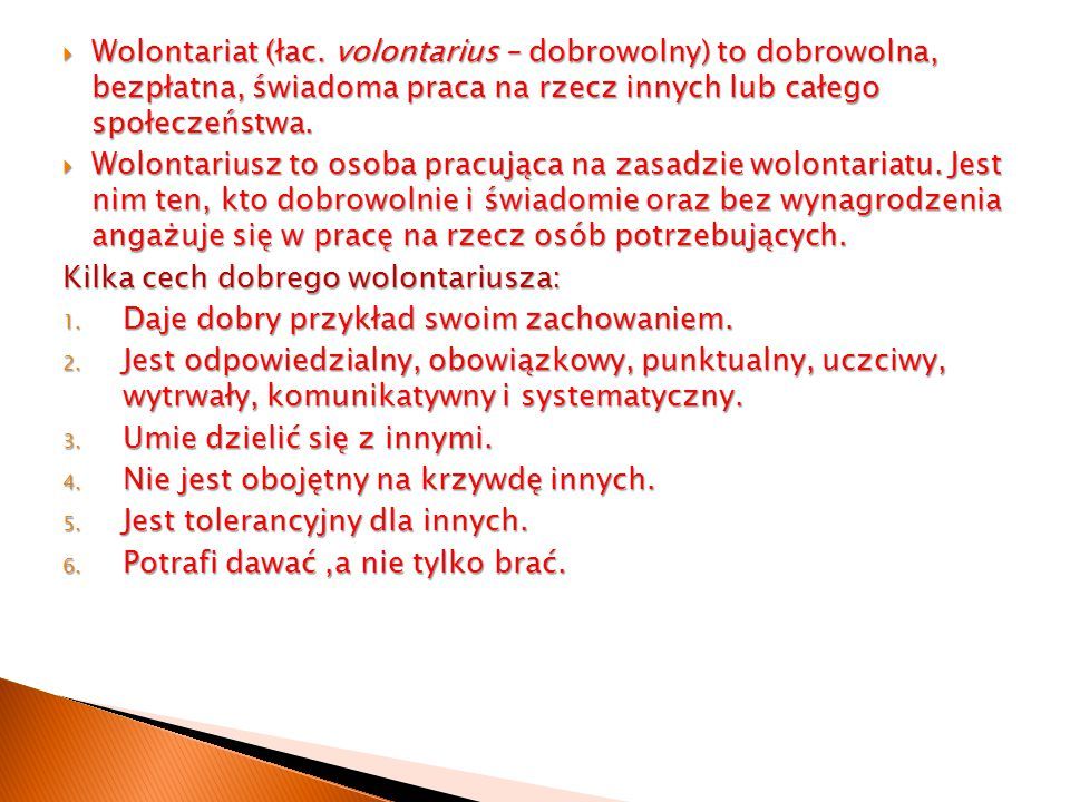  Wolontariat (łac.