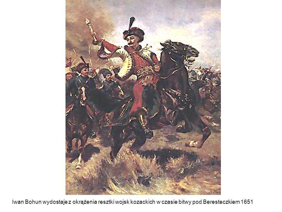 Iwan Bohun wydostaje z okrążenia resztki wojsk kozackich w czasie bitwy pod Beresteczkiem 1651