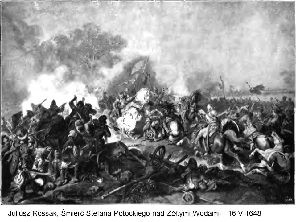 Juliusz Kossak, Śmierć Stefana Potockiego nad Żółtymi Wodami – 16 V 1648