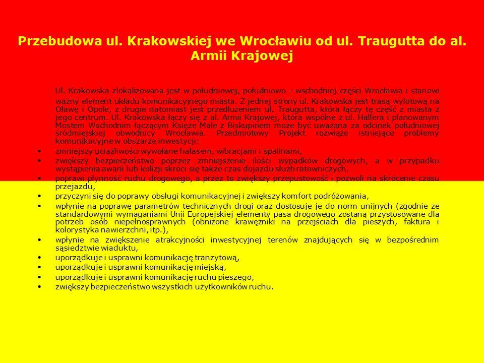 Przebudowa ul. Krakowskiej we Wrocławiu od ul. Traugutta do al.