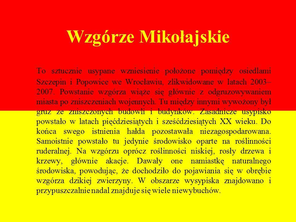 Wzgórze Mikołajskie To sztucznie usypane wzniesienie położone pomiędzy osiedlami Szczepin i Popowice we Wrocławiu, zlikwidowane w latach 2003– 2007.