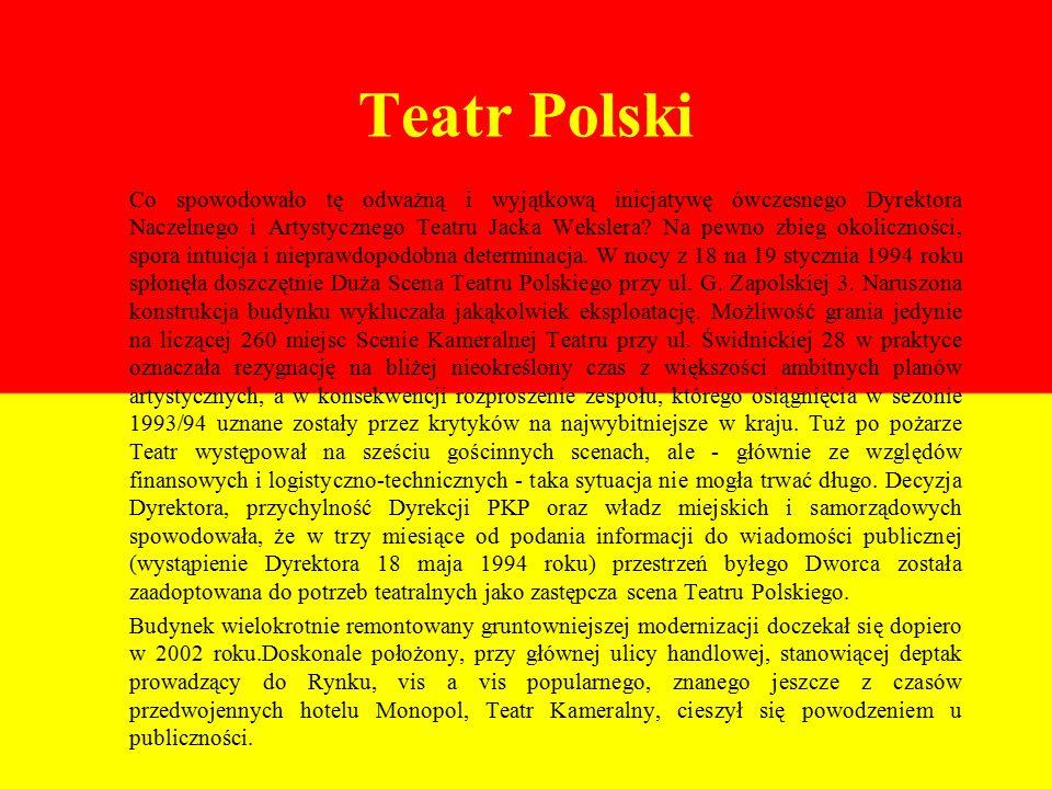 Teatr Polski Co spowodowało tę odważną i wyjątkową inicjatywę ówczesnego Dyrektora Naczelnego i Artystycznego Teatru Jacka Wekslera.
