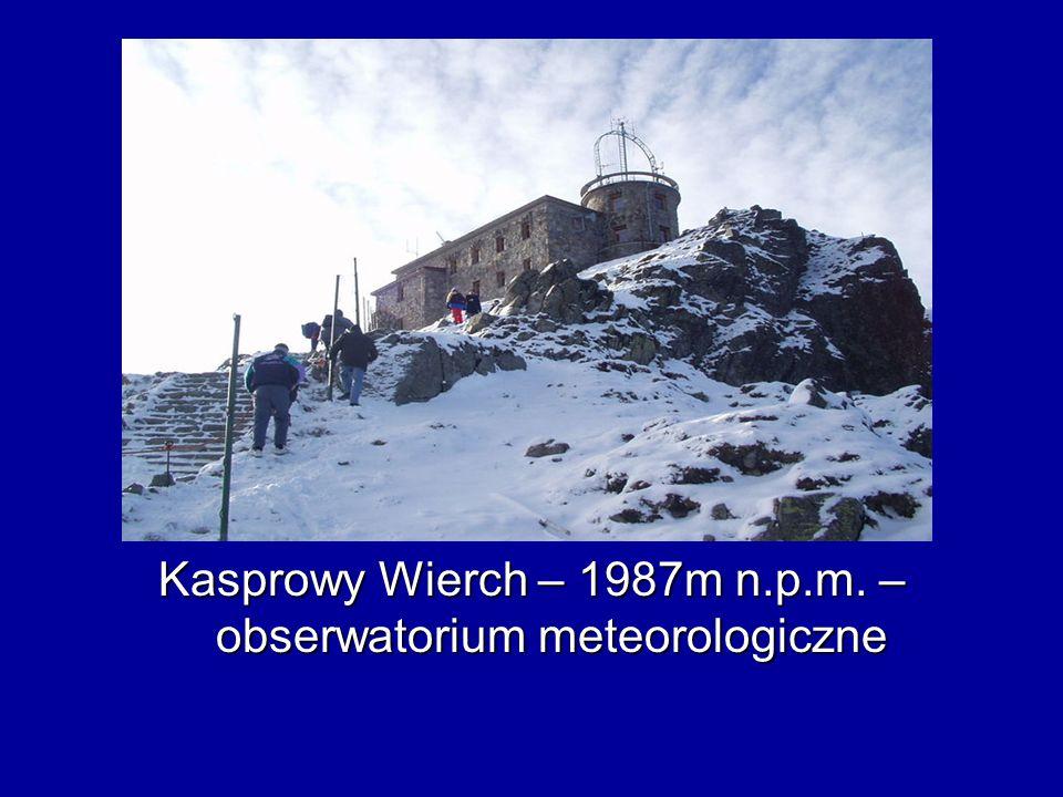 Kasprowy Wierch – 1987m n.p.m. – obserwatorium meteorologiczne