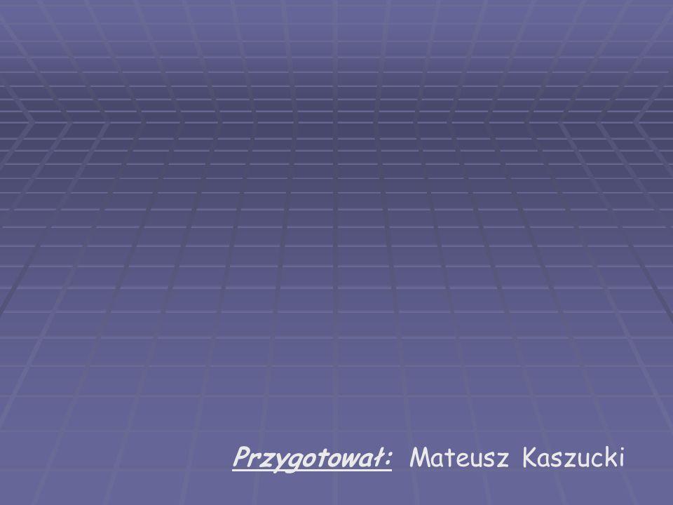 Przygotował: Mateusz Kaszucki